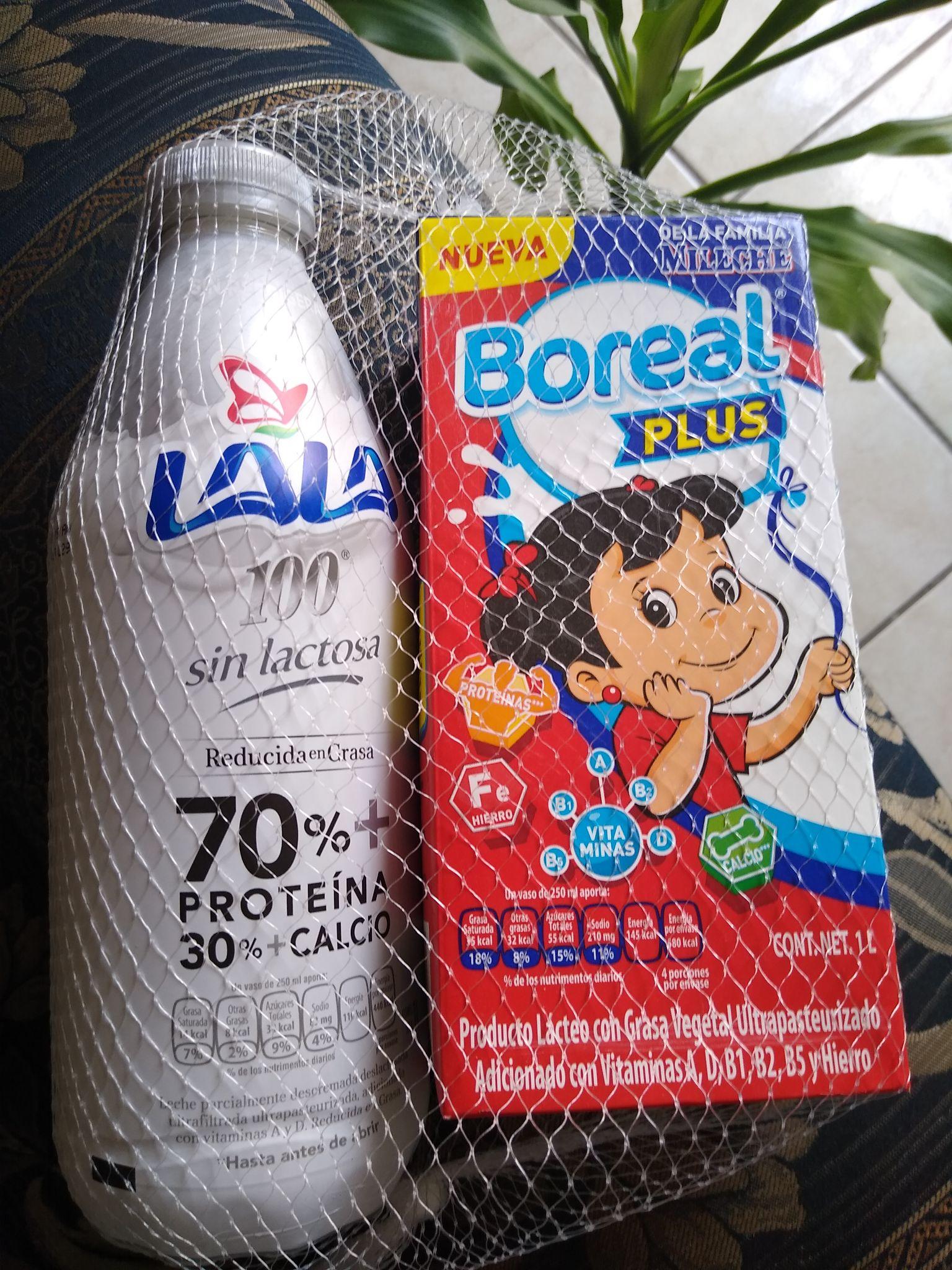 Chedraui Leche lala 100 sin lactosa + leche boreal