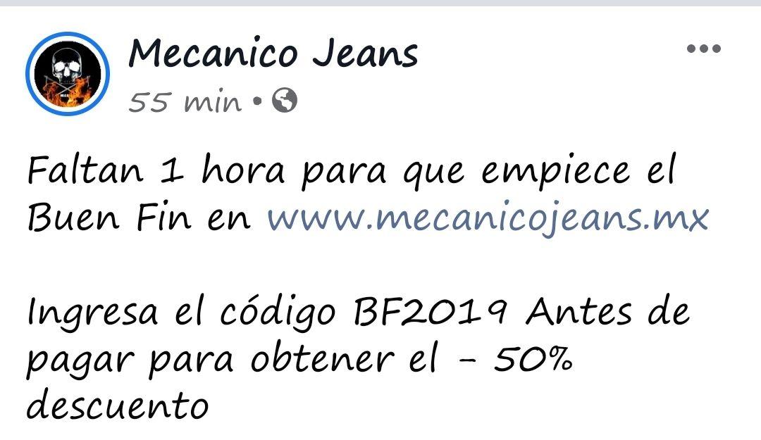 50% todo Mecanico Jeans