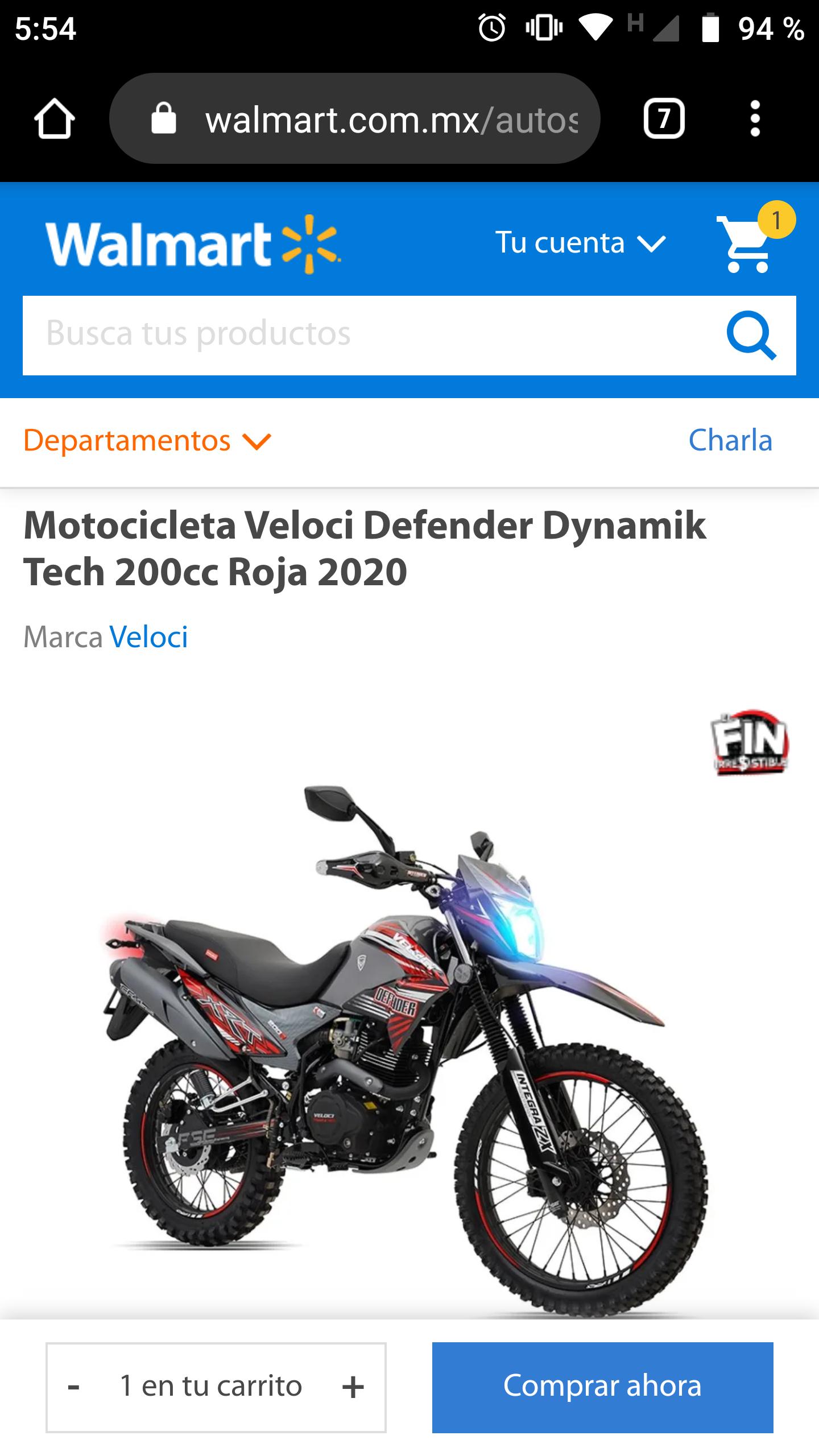 Walmart Veloci defender 200cc