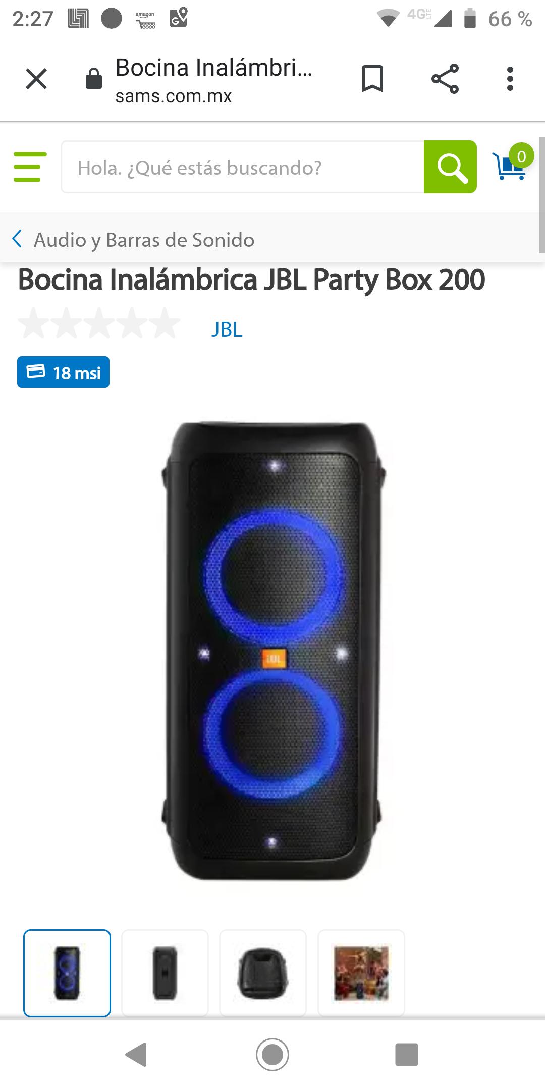 Sam's Club: JBL PARTY BOX 200