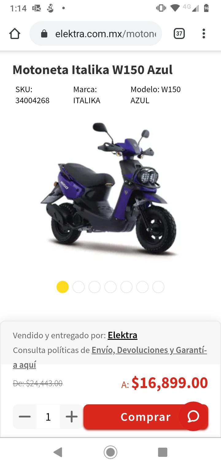 Elektra: Motoneta Italika W150