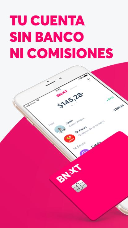 Bnext tarjeta sin comisiones: $100 de regalo con pre-registro y activación + $100 por cada invitado