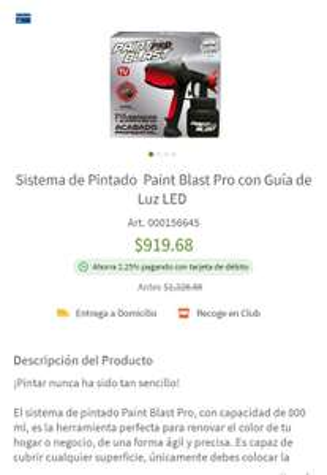 Sam's Club: Pistola para pintar paint blast pro