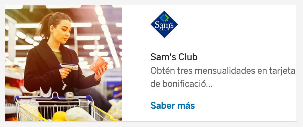 Sam's Club: 3 meses de bonificación pagando a 18 MSI (16% a 9 MSI en línea) con TDC BBVA