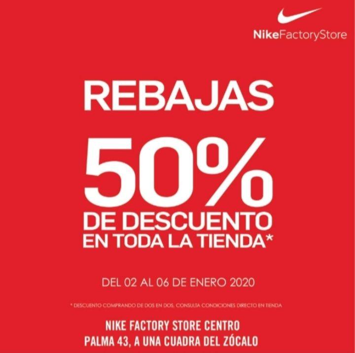 Nike Factory Store Centro 50% de descuento comprando de 2 en 2