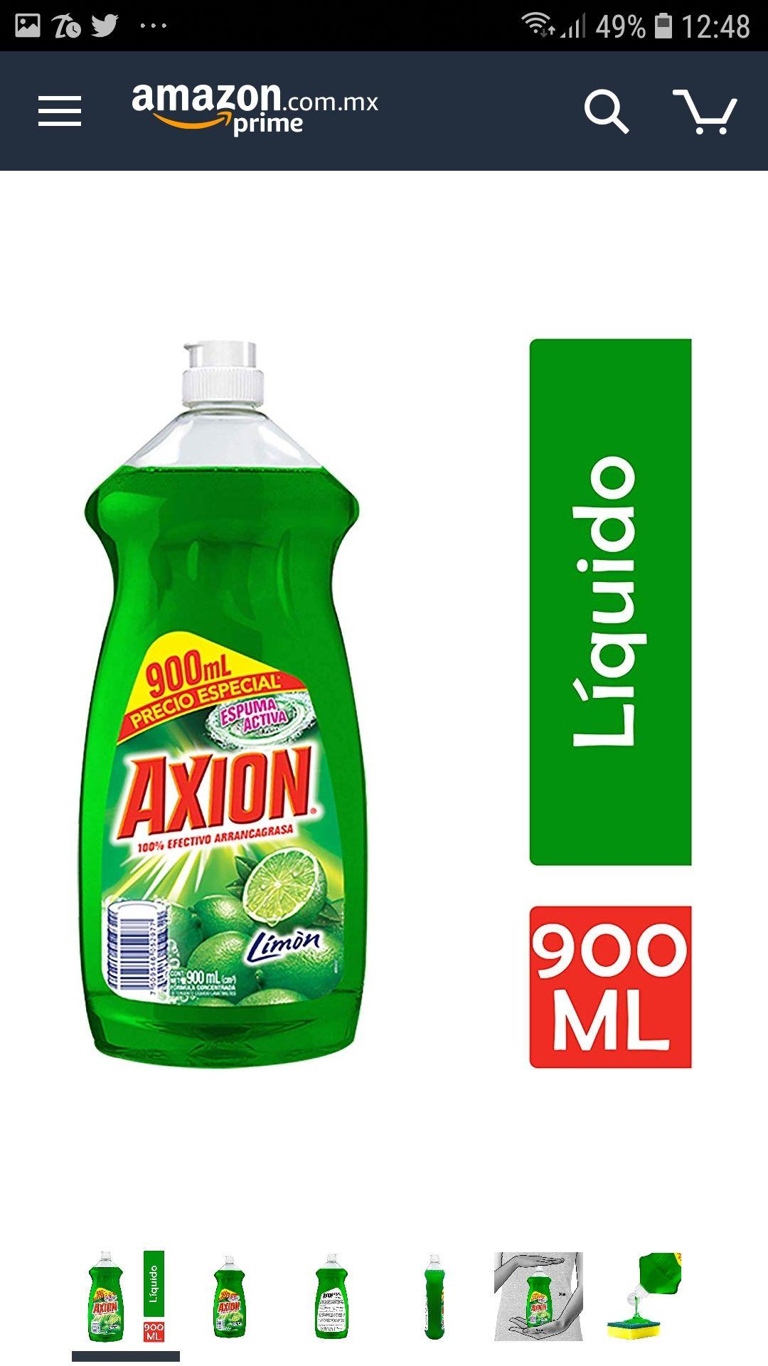 AMAZON: Lavatrastes Axion Líquido de 900 ml Comprando 4 piezas o más y aplicando el descuento de planea y ahorra