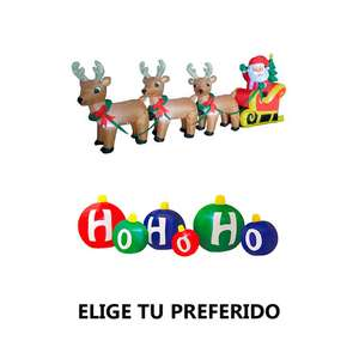Chedraui: Inflabe Santa Claus Home Dreams 1 pz