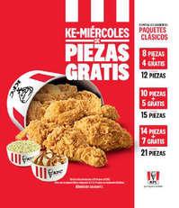 KFC: Se renuevan los Ke-miercoles de piezas gratis