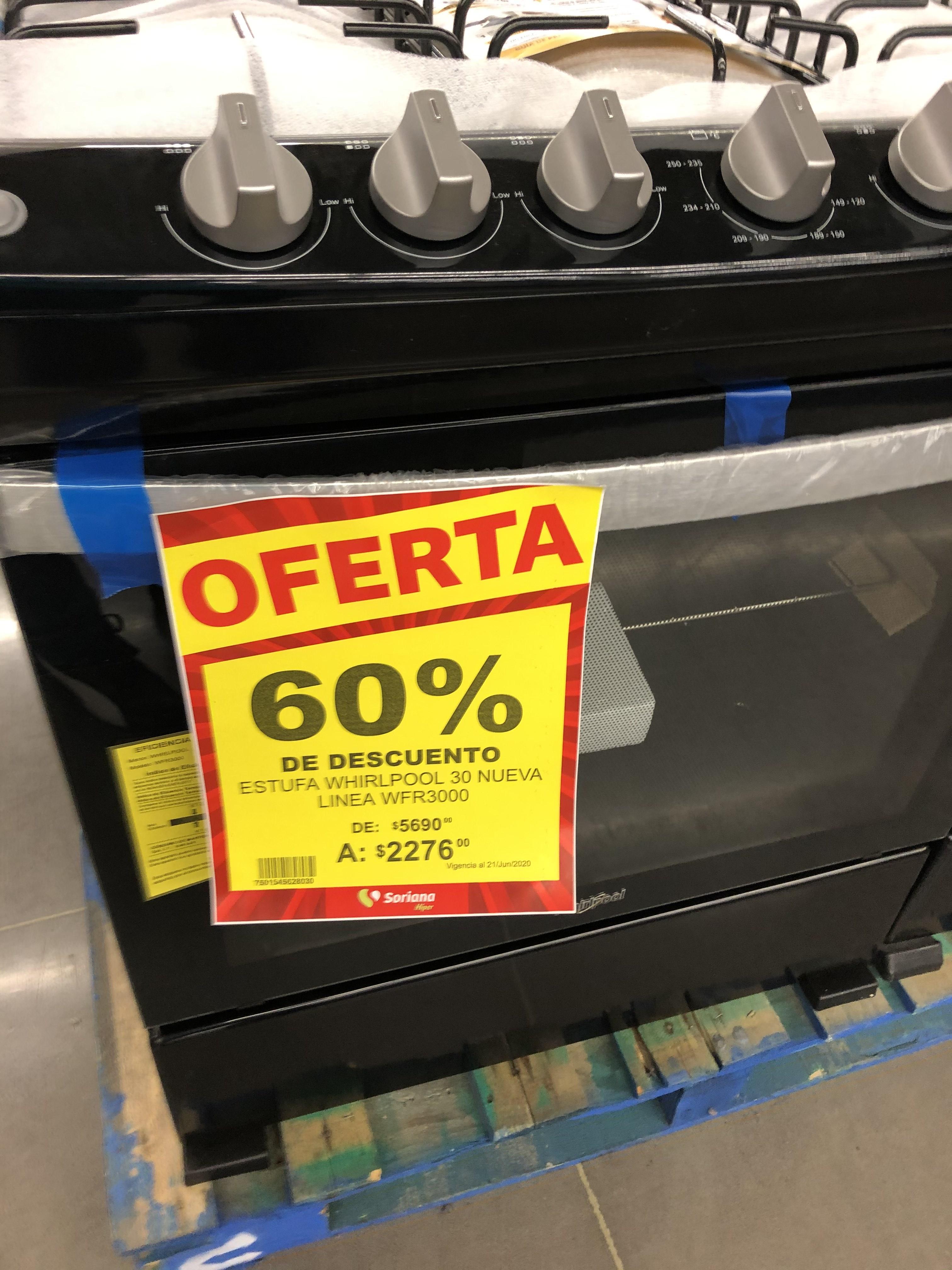 Soriana: Liquidación de estufas en 60% diferentes marcas