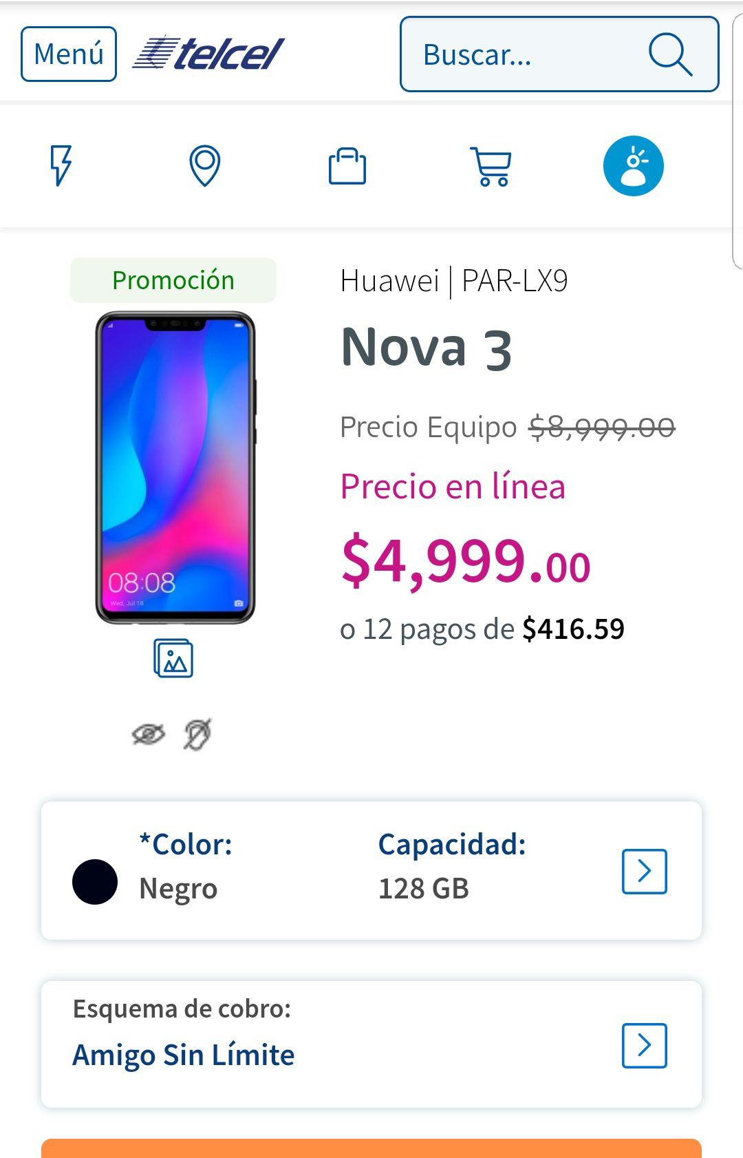 Telcel: Huawei nova 3
