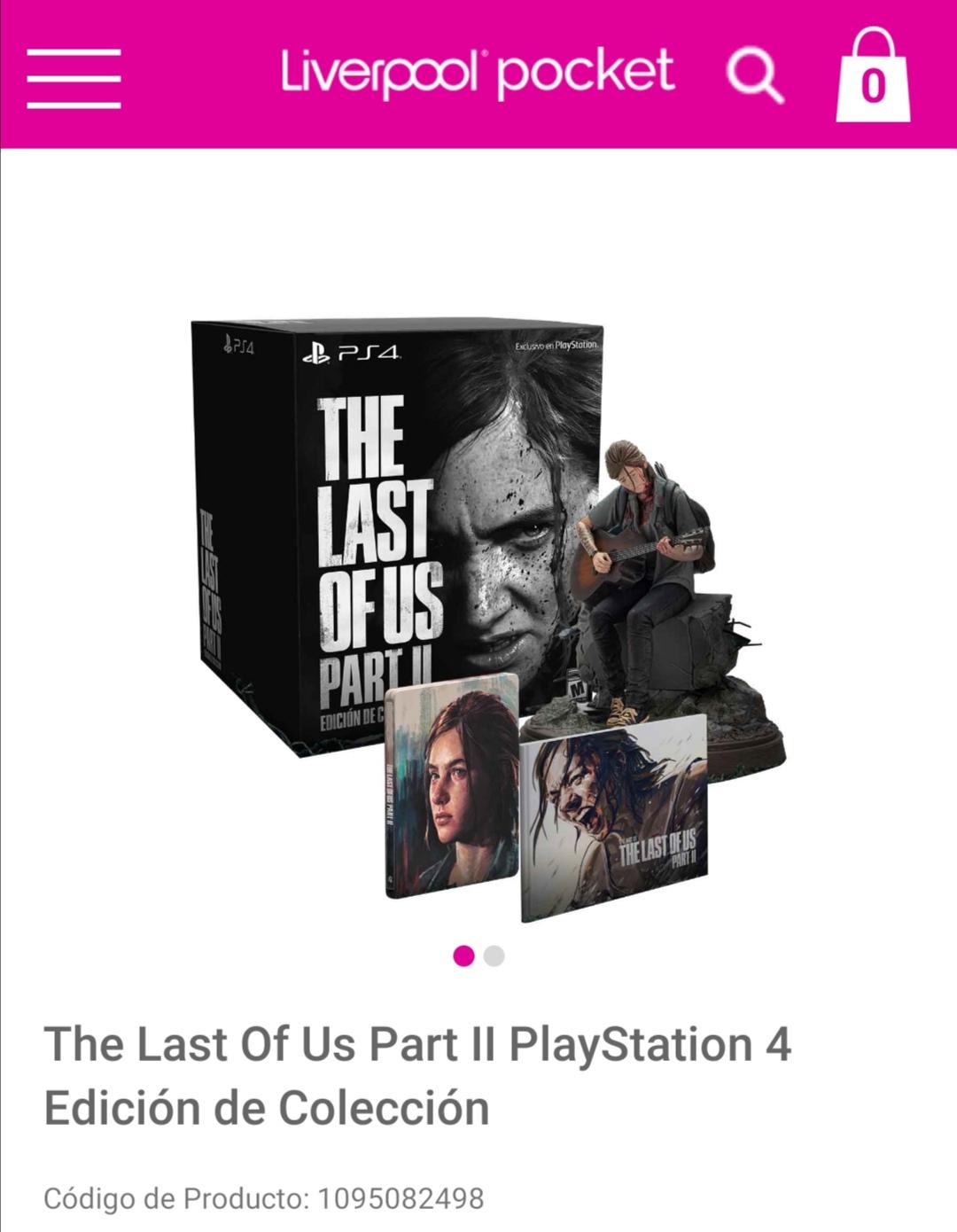 Liverpool en línea: The last of us part 2 especial edition y collectors edition