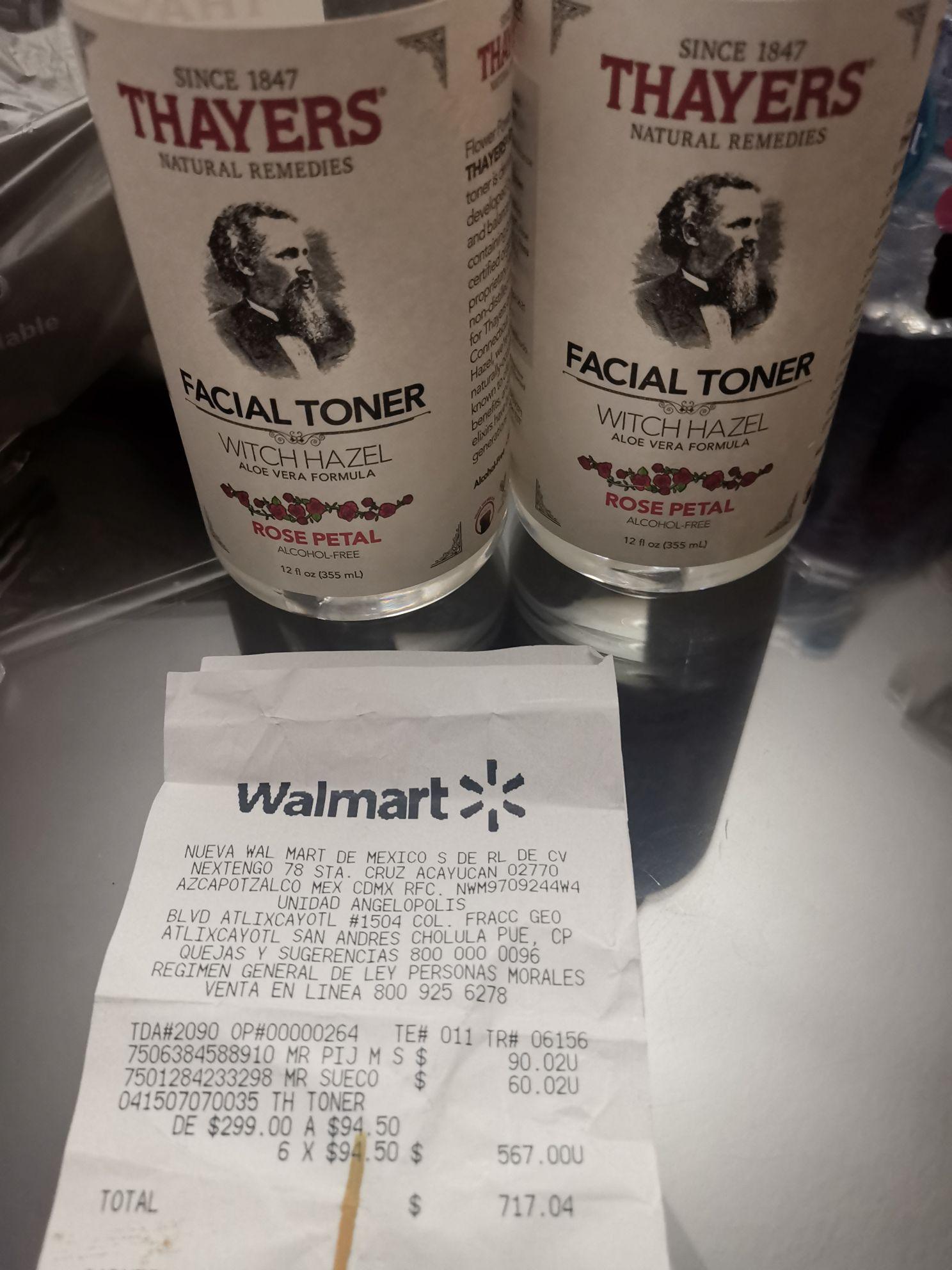 Walmart: Tónico Thayers