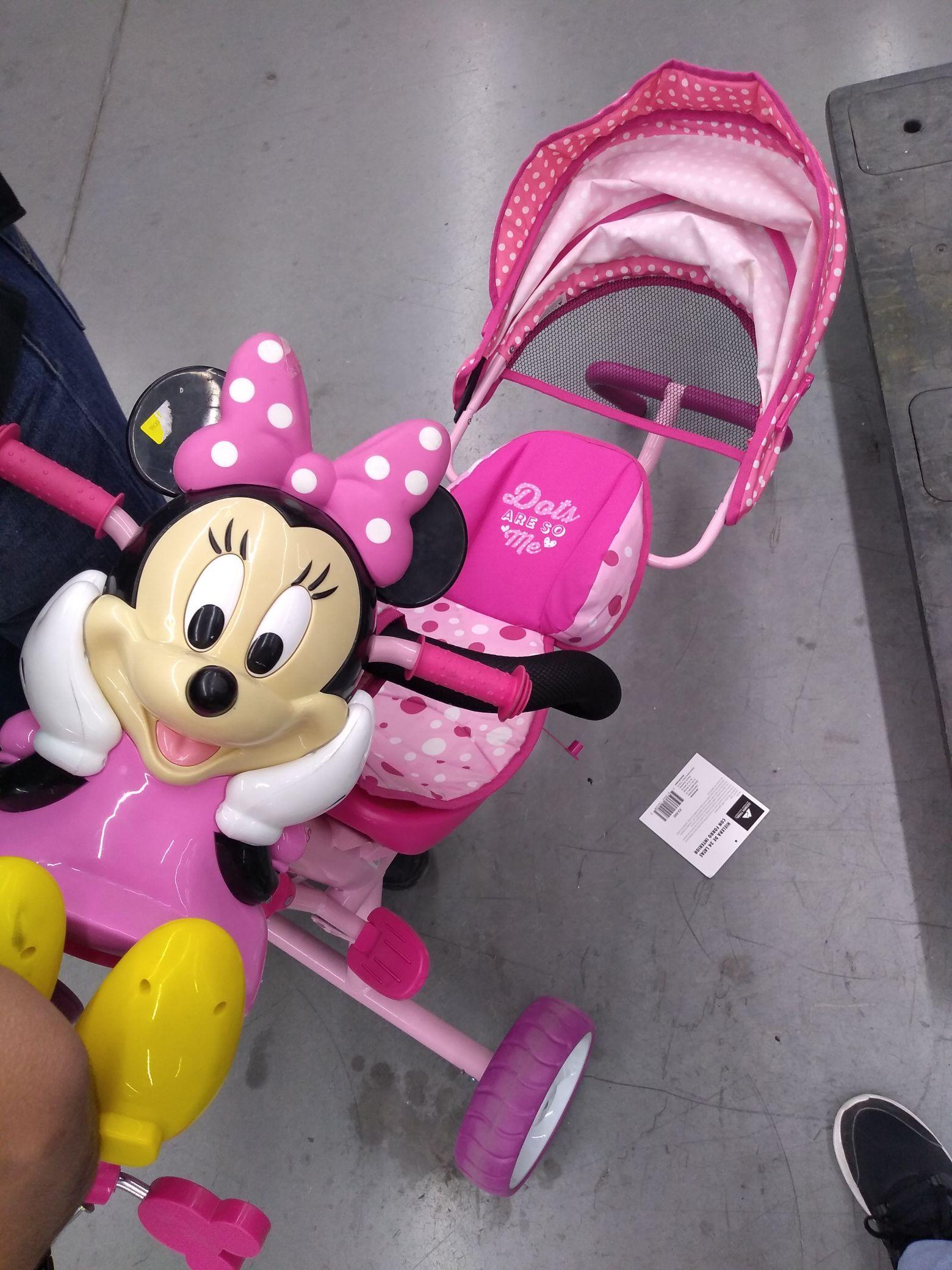 Walmart: Triciclo 3 en 1 de Minnie