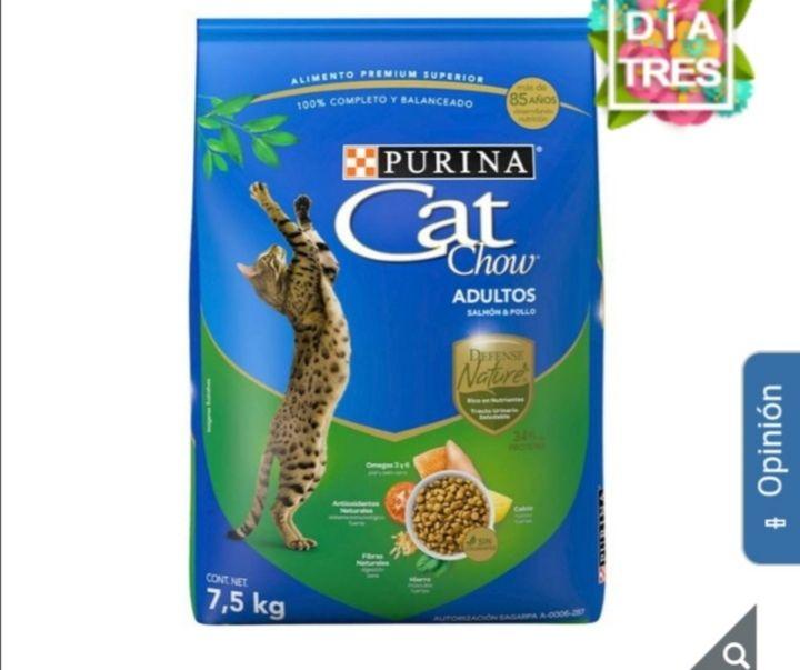 Costco Cat Chow alimento para gato salmón y pollo 7.5kg