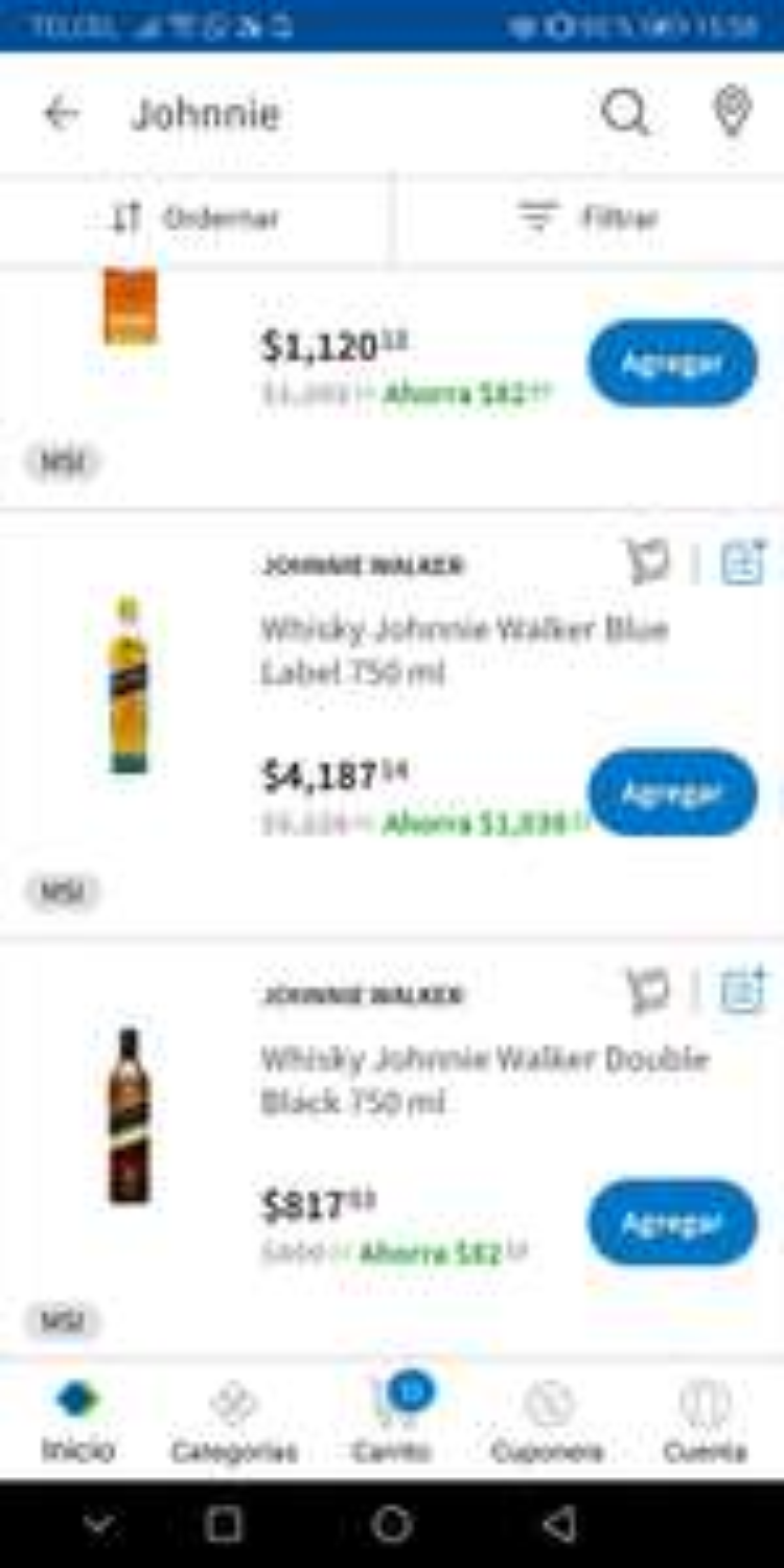 Sam's Club: Whisky Johnnie Walker blue label de 5226 a 4093
