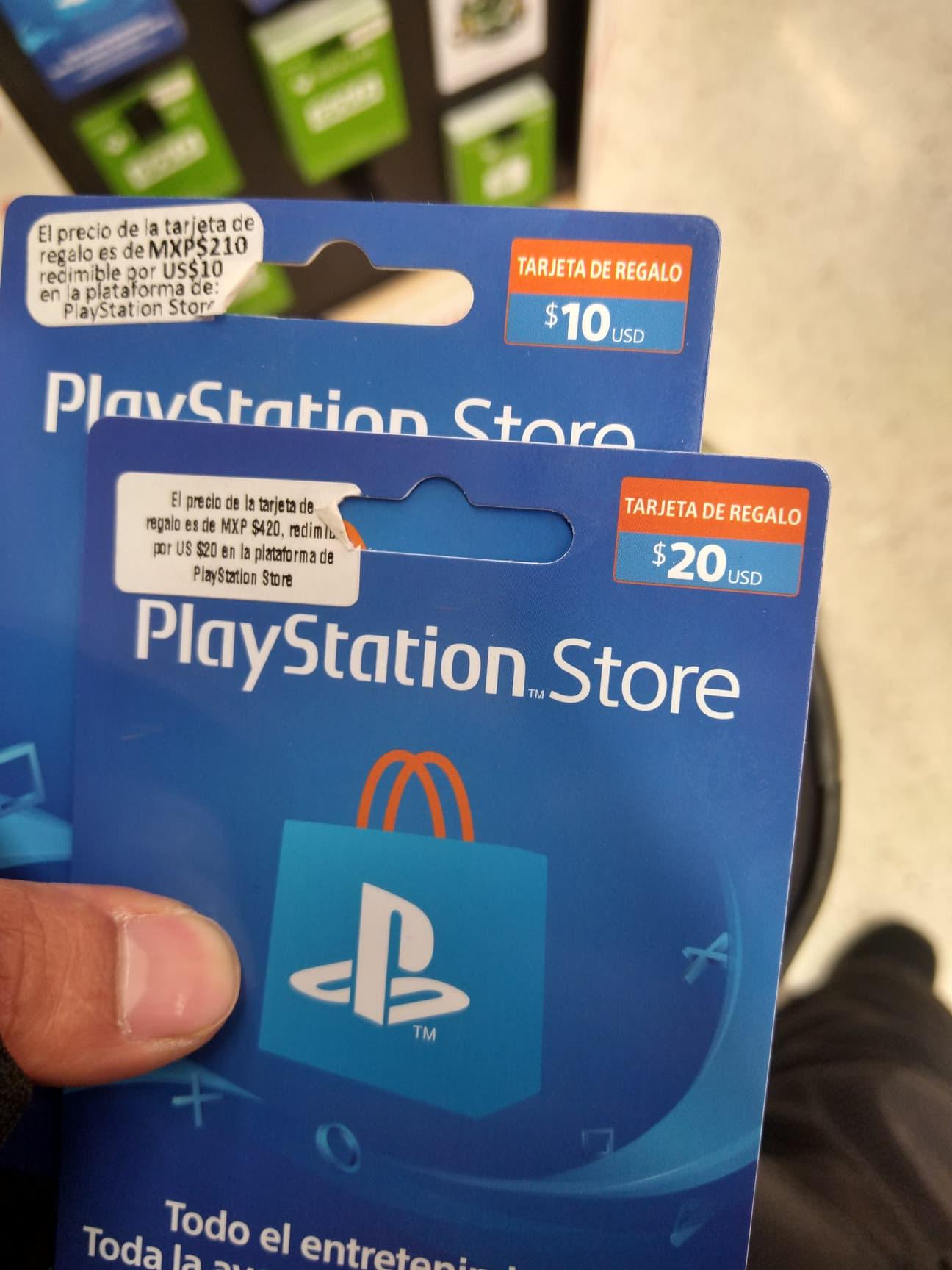 Soriana: Tarjetas Playstation Network - 10dls ( 210 pesos) 20dls ( 420 pesos ) 50dls ( 1050 pesos )