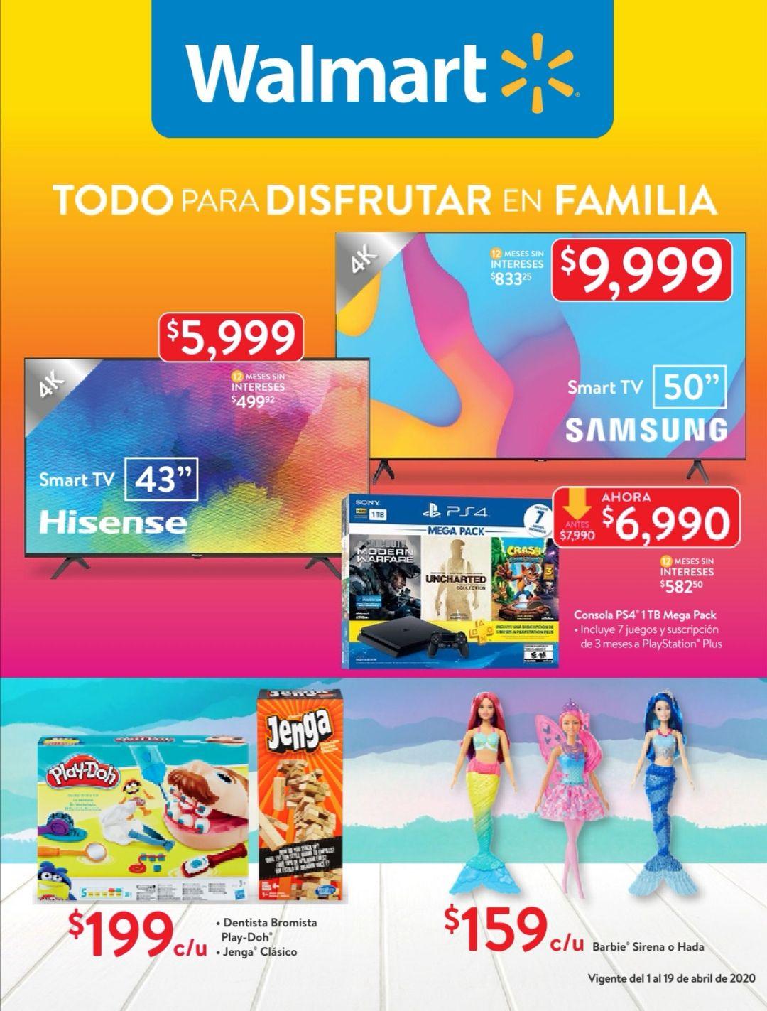 Walmart: Folleto de Ofertas Quincenal del Miércoles 1 al Domingo 19 de Abril