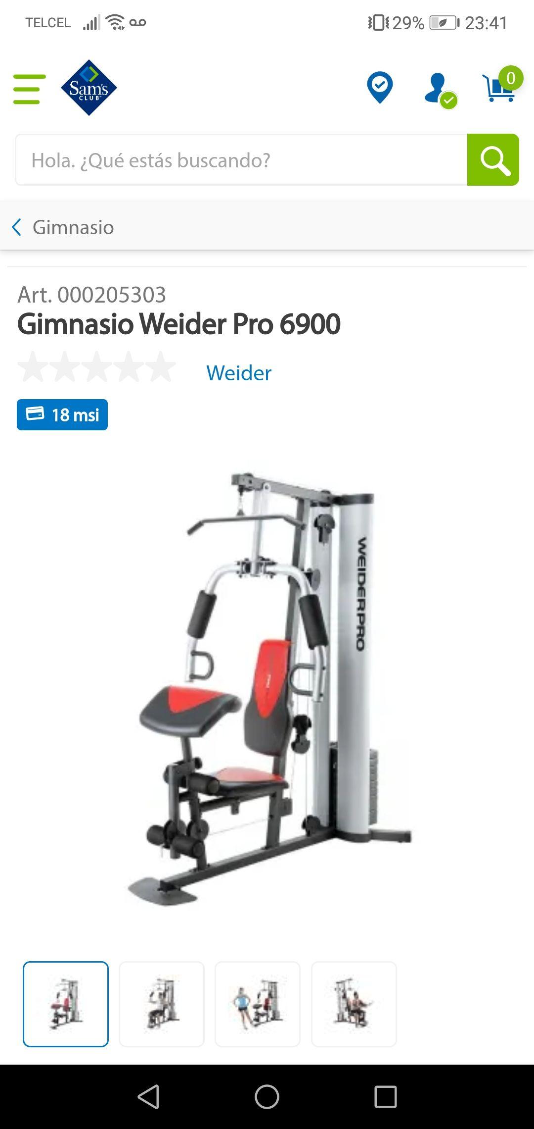 Sam's Club: Gimnasio Weider pro 6900