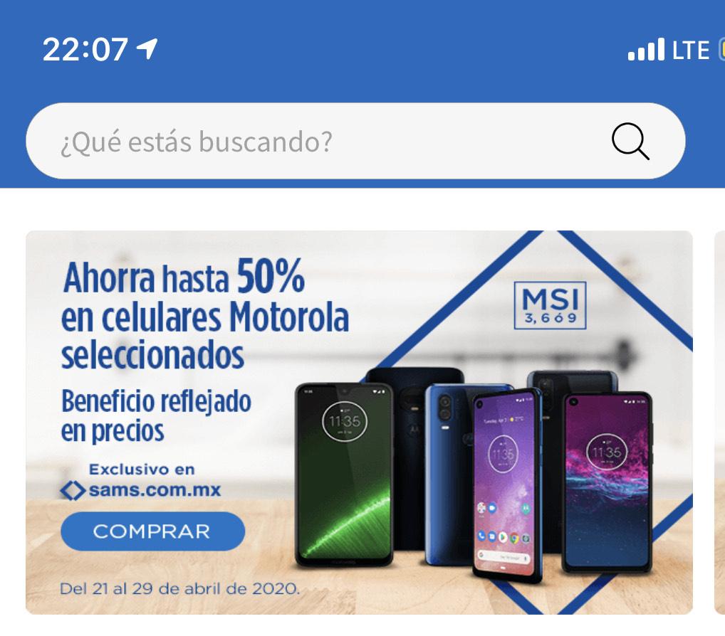 Sam's Club: Motorolas hasta el 50% de descuento