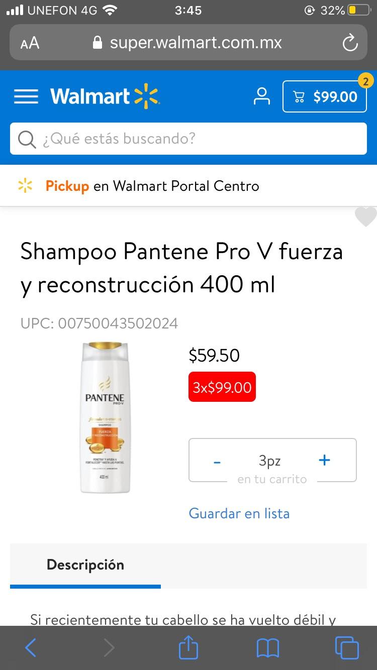 Walmart 3 Panteme 400ml