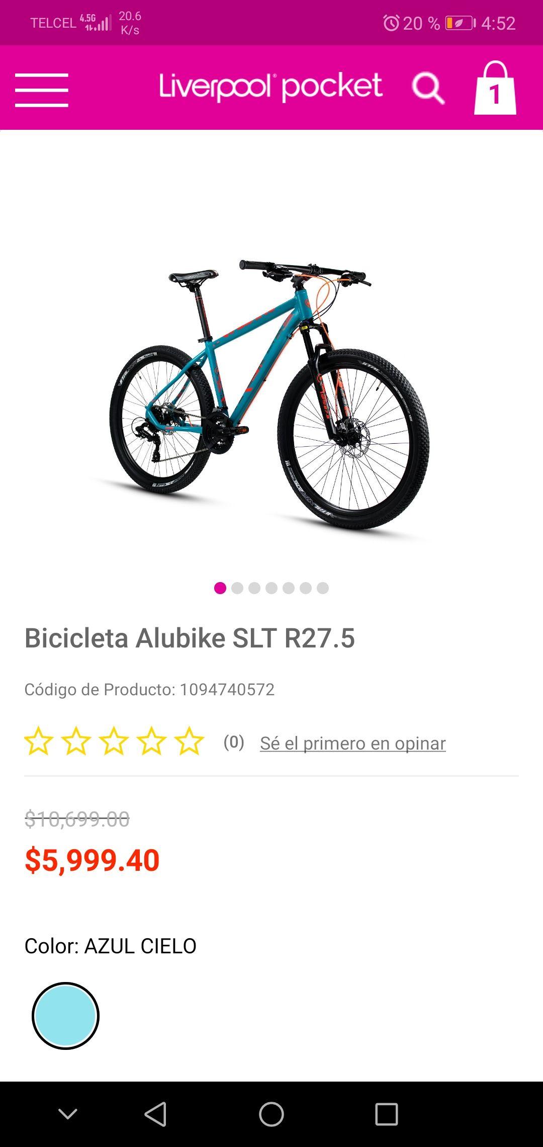liverpool Bicicleta alubike con 40%