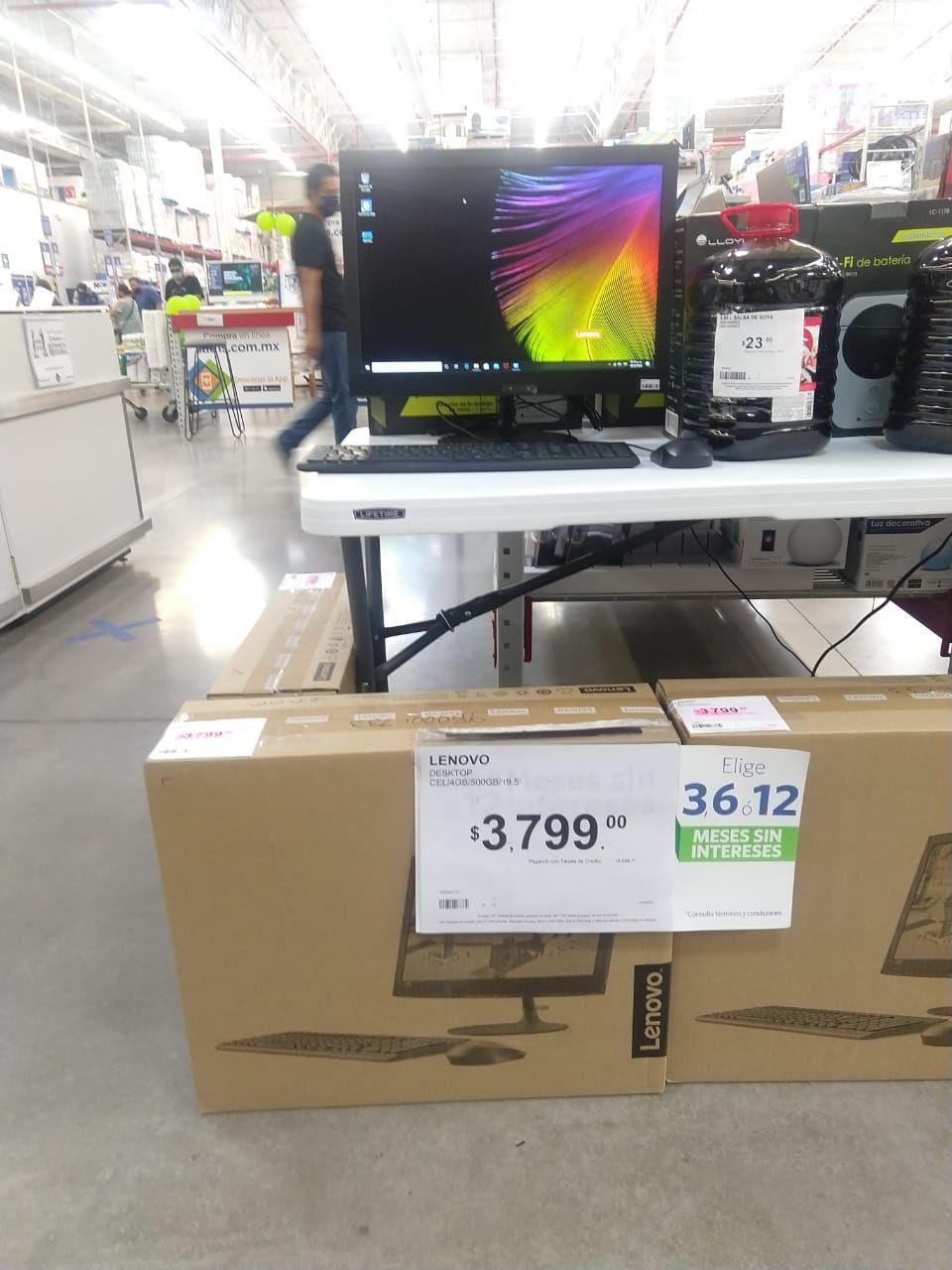 Sam's club:Computadora Lenovo de escritorio a solo $3,886 con tarjeta,y además $647 de bonificación en tarjeta de regalo