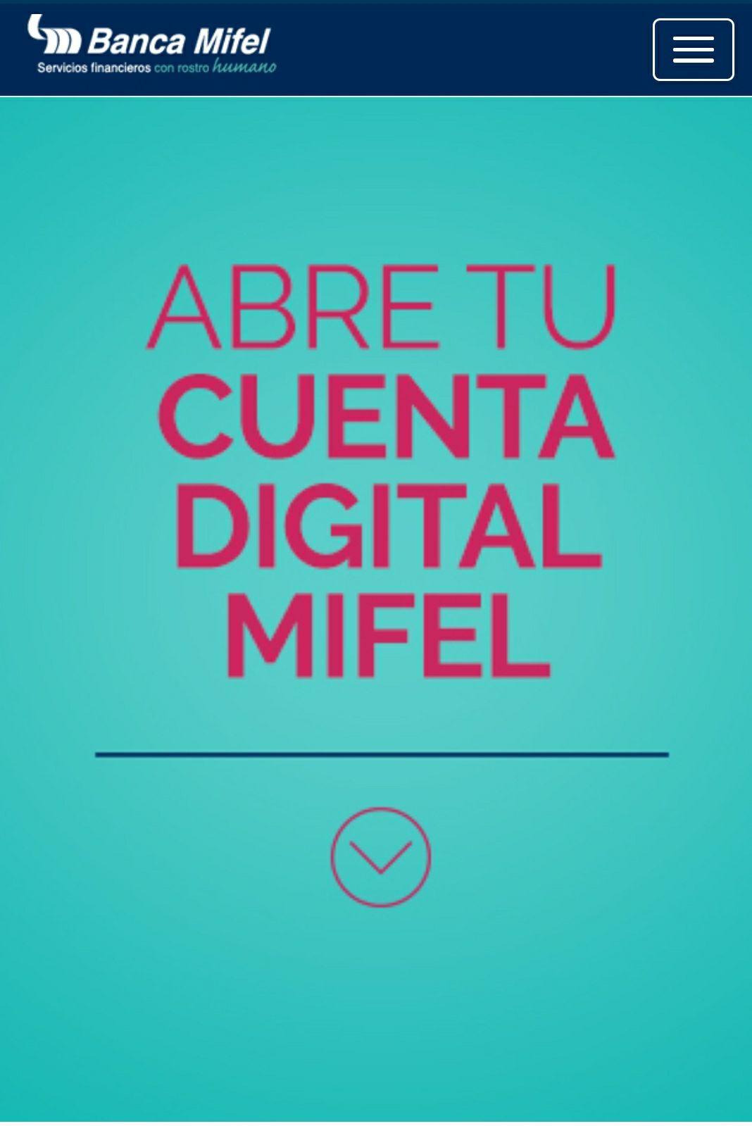 """Cuenta Digital Mifel """"GRATIS"""" $0.00 Comisiones"""