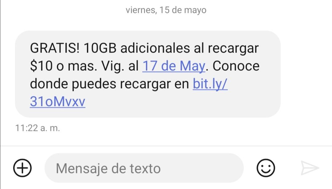 AT&T: 10 GB adicionales gratis al recargar $10 o más (usuarios seleccionados)