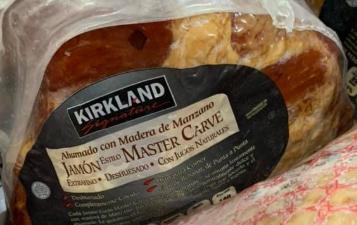 COSTCO JAMON MASTERCARVE, Ahumado con madera de Manzano, !Delicioso! $99 x Kg