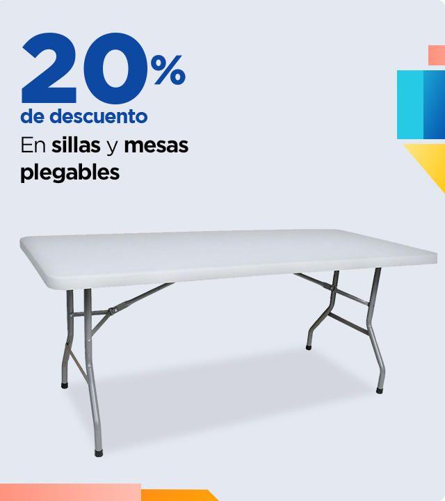 Chedraui: 20% de descuento en sillas y mesas plegables