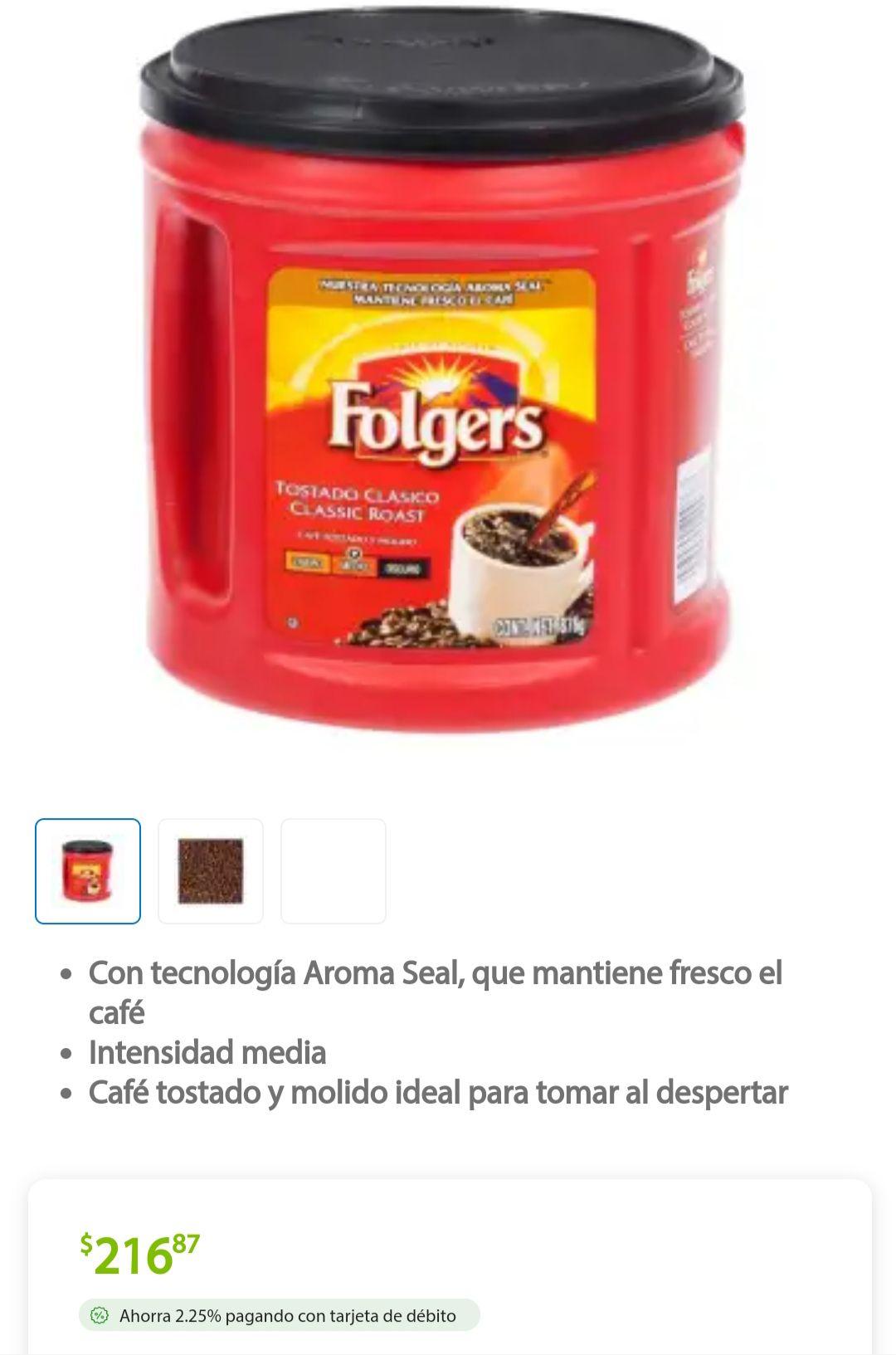 Sams Club: Café tostado y molido Folgers 876 g