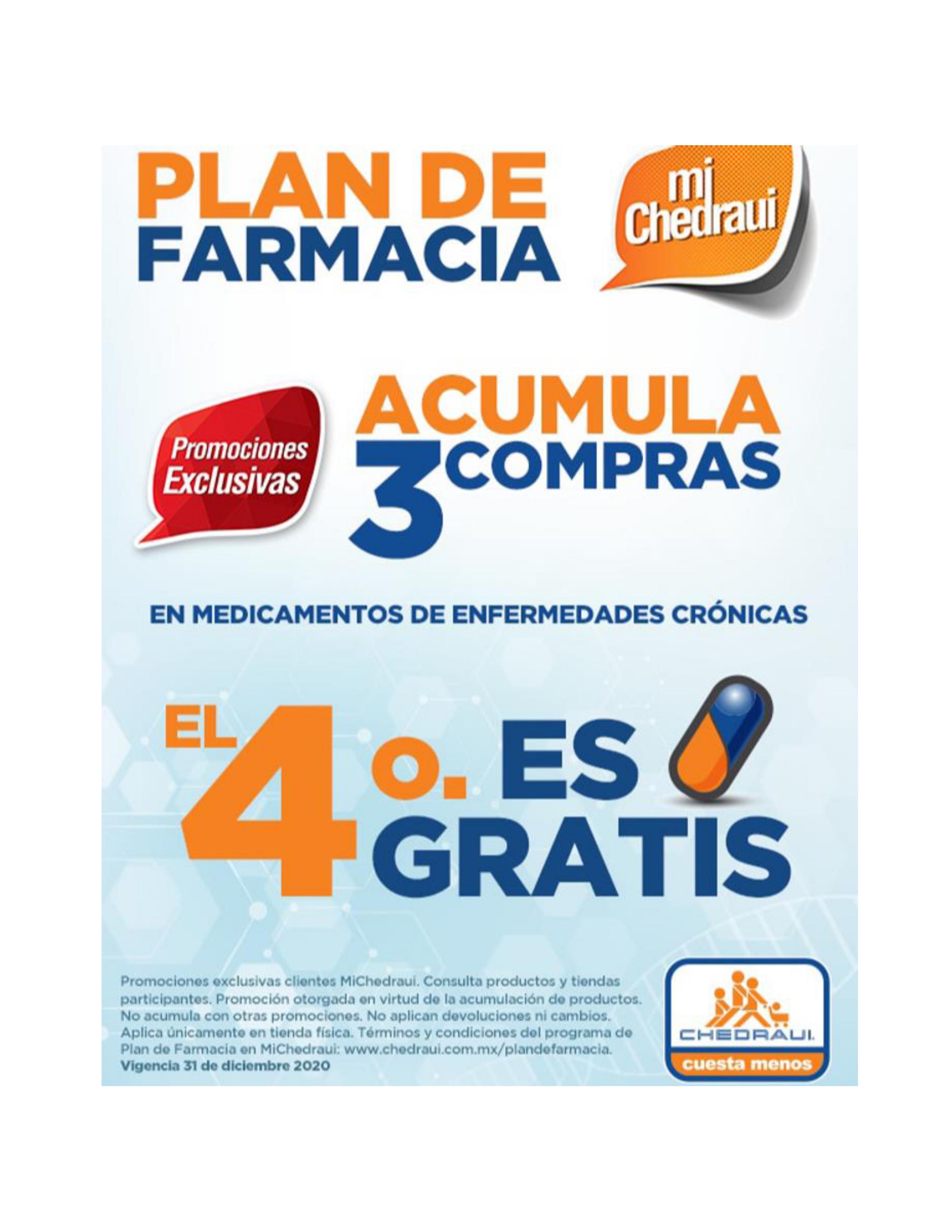 Chedraui: Acumula 3 compras y el 4to medicamento es gratis