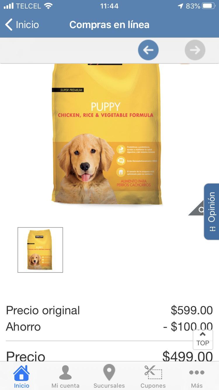 Costco: Croqueta para cachorros marca kirkland