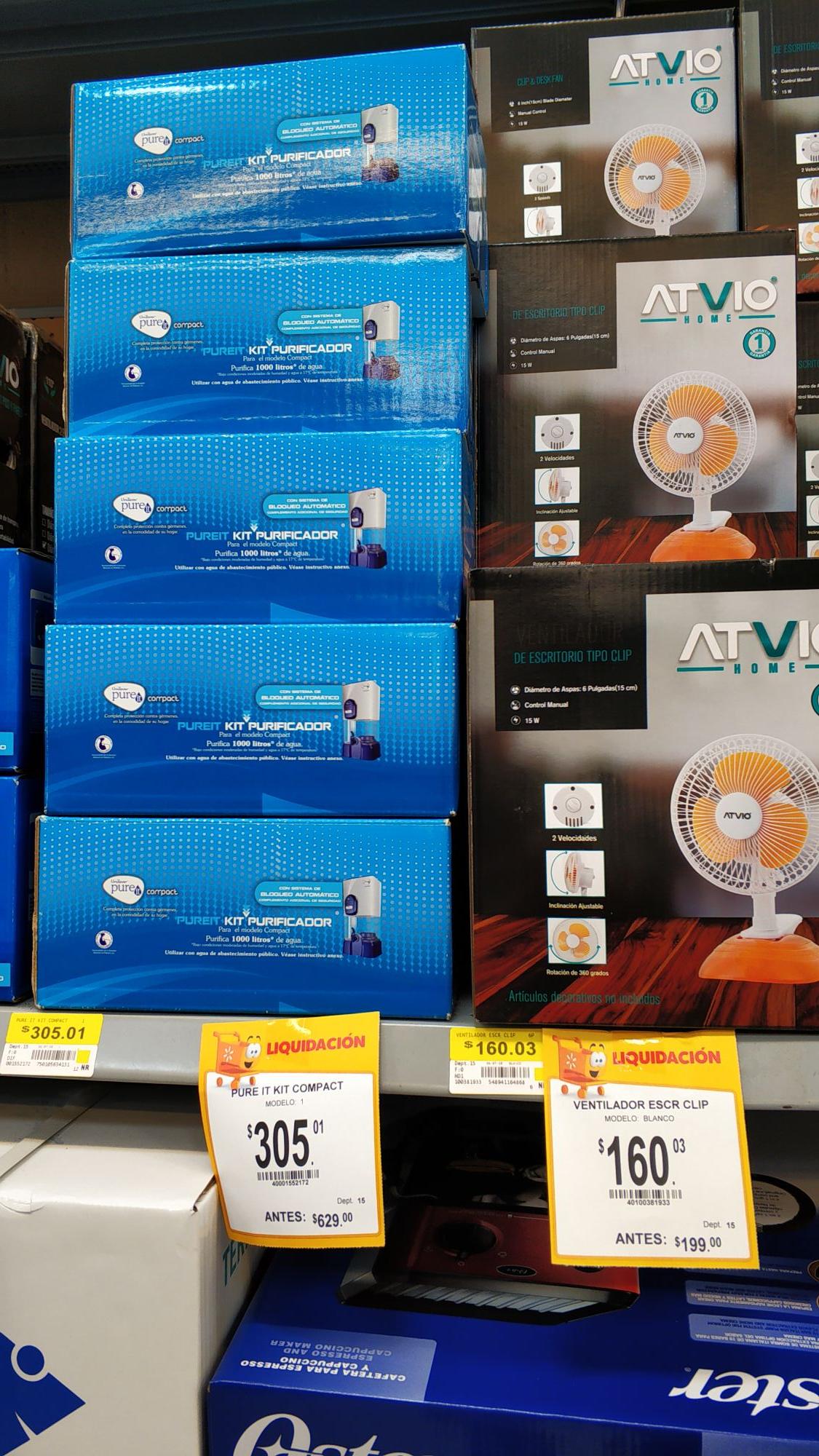 Walmart: Kit pure it .repuesto purificador.