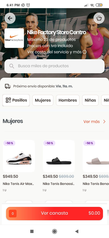 Rappi y Nike: 50% descuento