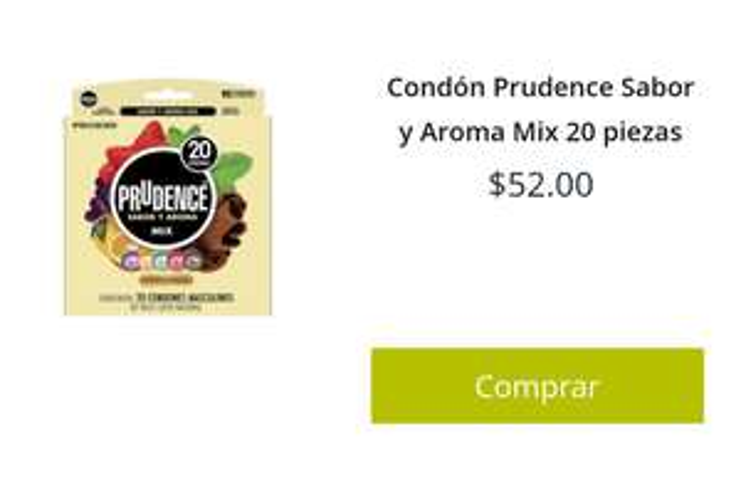 Soriana: Prudence (20 pzas) a $52