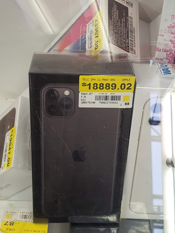 Walmart: Iphone 11 pro max de 64gb