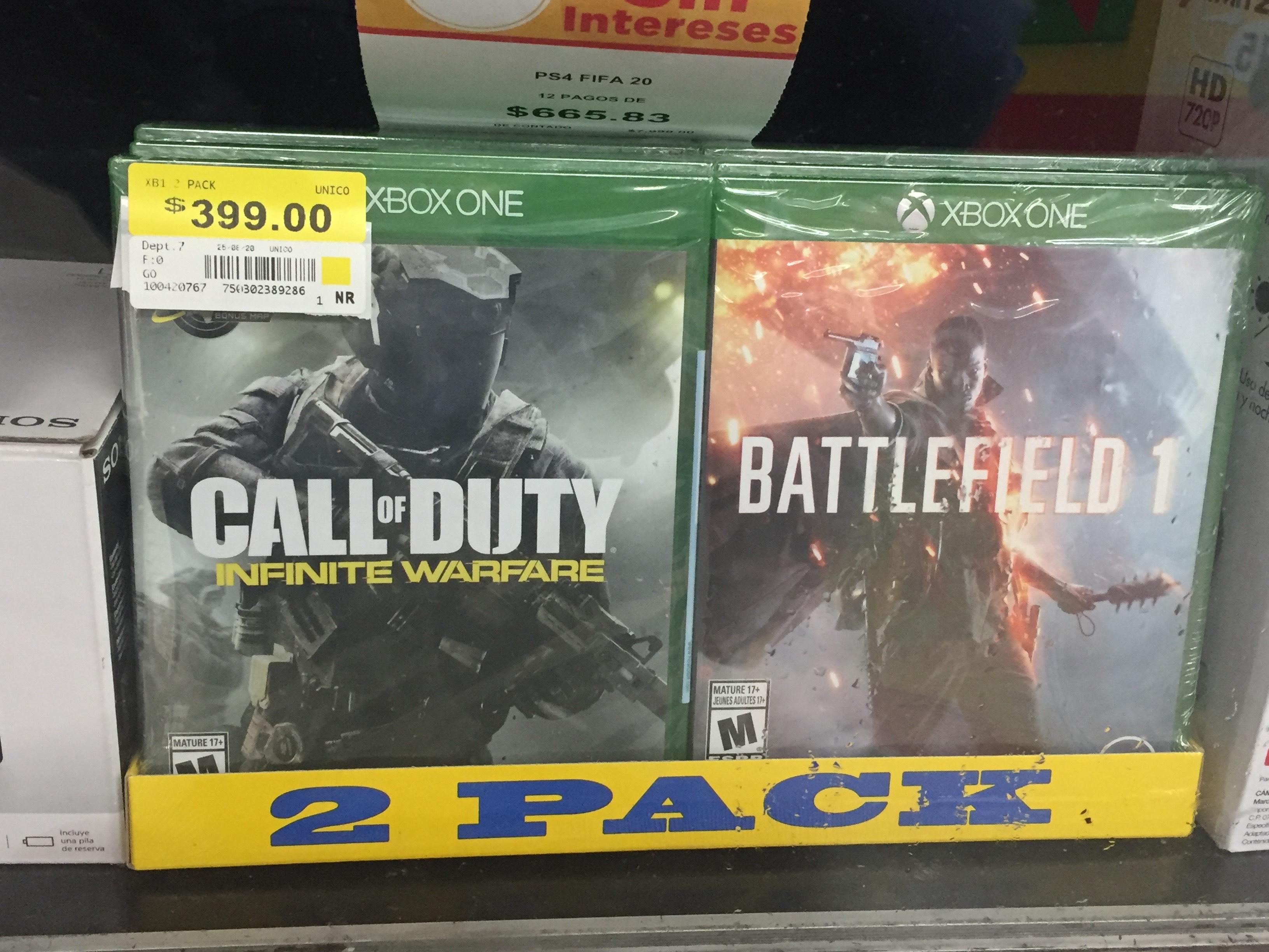 Walmart: Call Of Duty Infinite Warfare + Battlefield 1