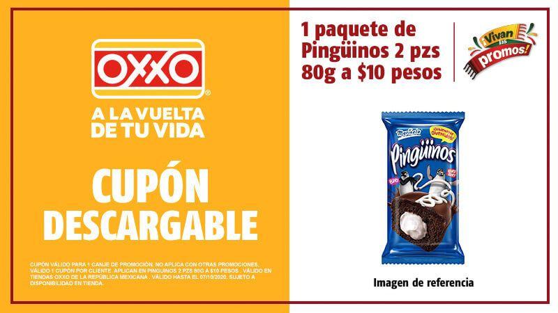 Oxxo: Pinguinos Marinela 80 gr $10 y más Cupones