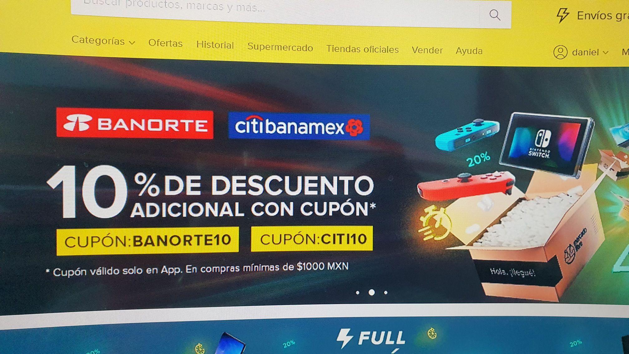 Mercado Libre: 10% de descuento en toda la tienda pagando con Citibanamex