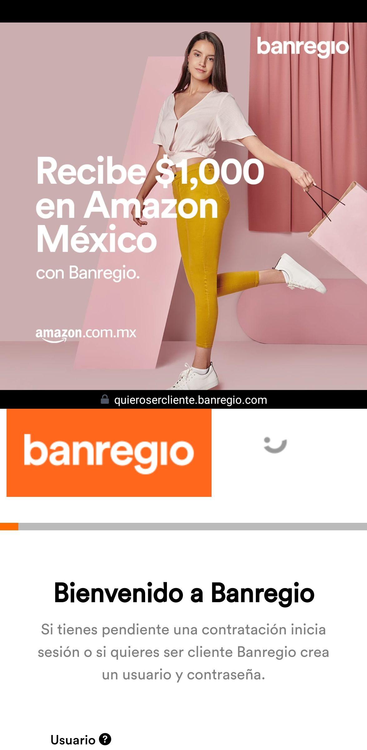 Banregio: Abre una cuenta, deposita $10,000 o mas y obtén certificado de regalo para amazon
