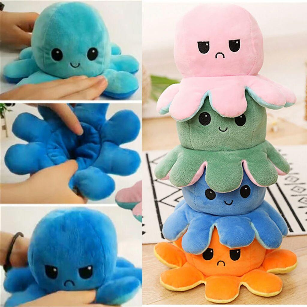 Aliexpress: Pulpo Reversible Doble cara Peluche de MODA Octopus