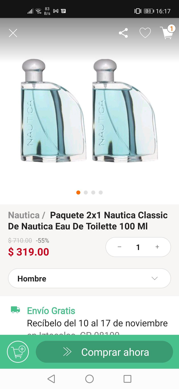 Linio: Perfume náutica clásico 2x$319