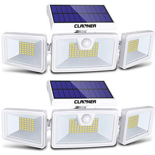 Amazon: PAR DE LAMPARAS LED CON PANEL SOLAR RECARGABLES, 1600 LUMENS EXTERIORES PROTECCIÓN IP65, 50,000 HORAS DE VIDA