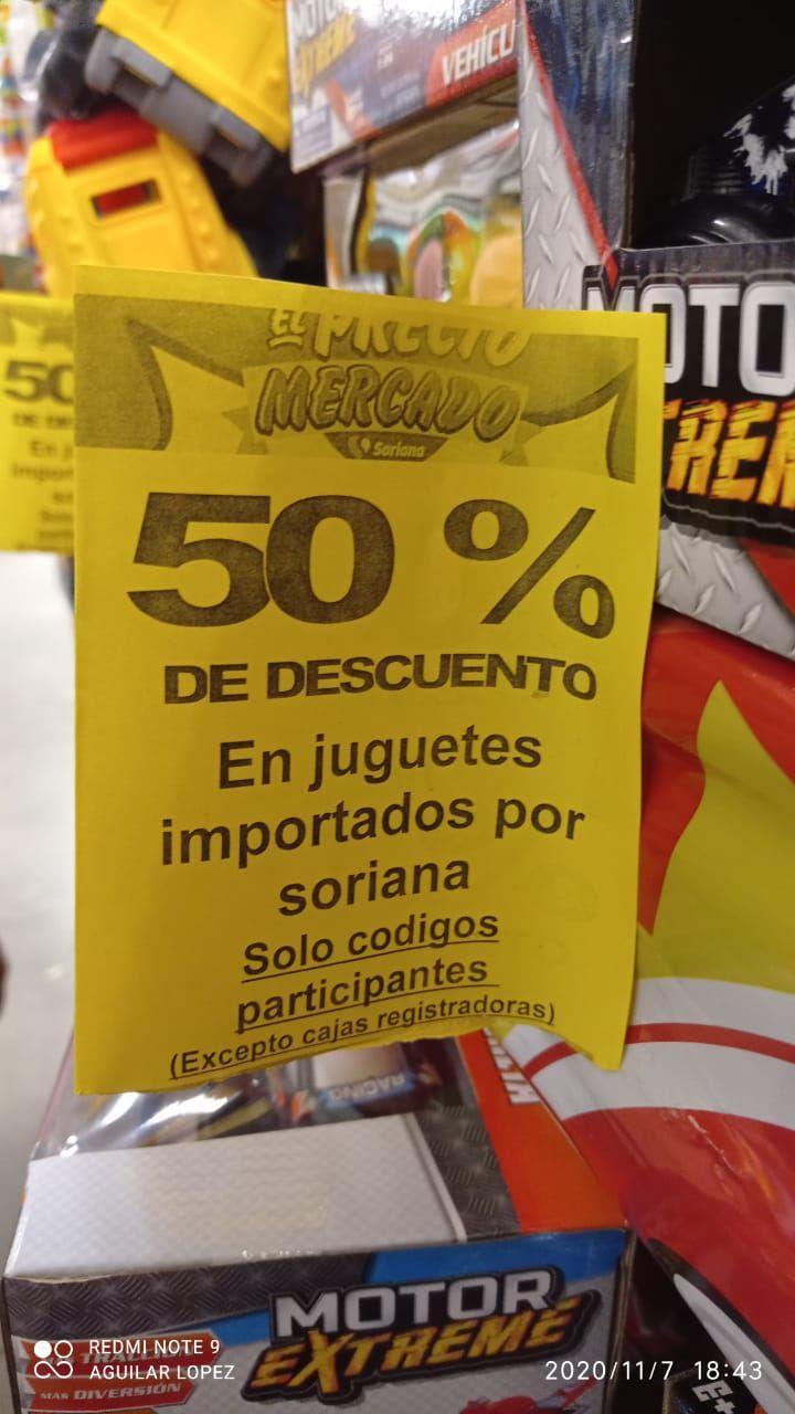 Soriana 50% de descuento en Juguetes importación