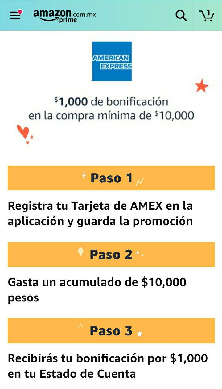 Amazon y American Express: $1,000 de bonificación en la compra de $10,000