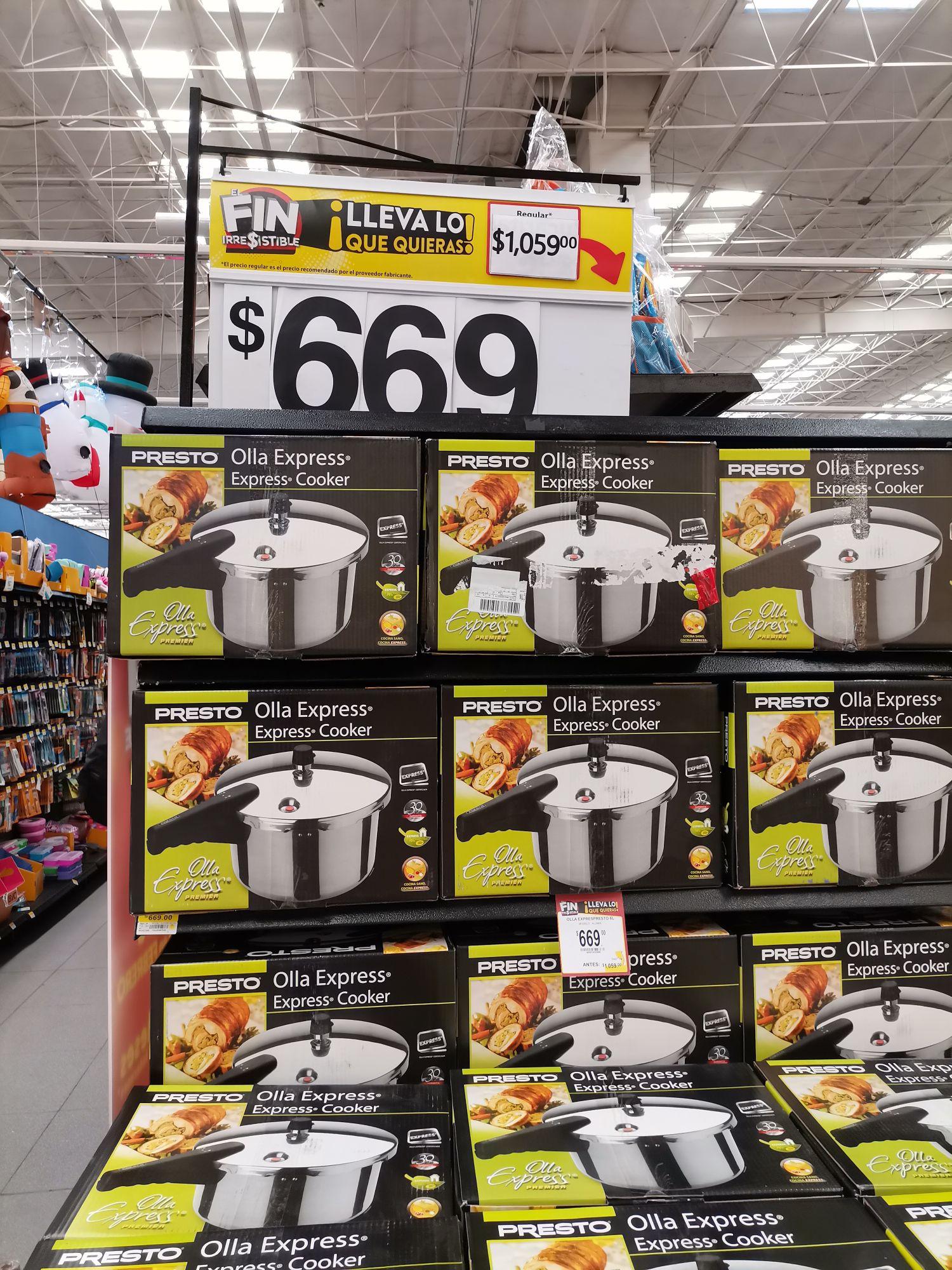 Walmart: Olla Express Presto 6 litros