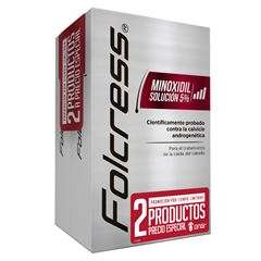 Minoxidil Folcress al 5% (presentación 2x1) con envío gratis en Sanborns a $394