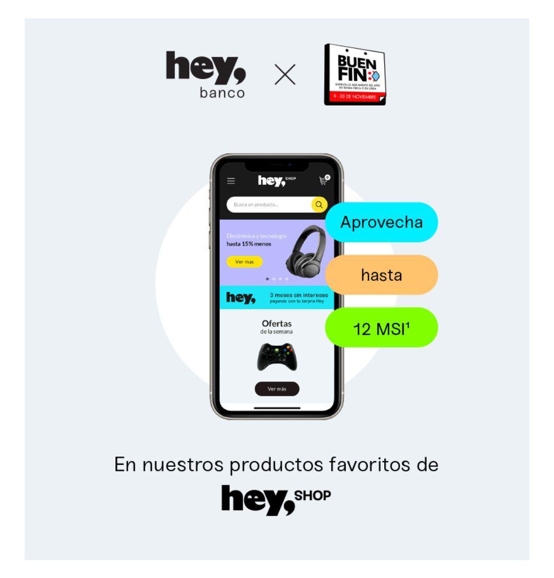 Hey Shop: 30% de descuento en productos seleccionados pagando con tu Tarjeta de Crédito Hey.