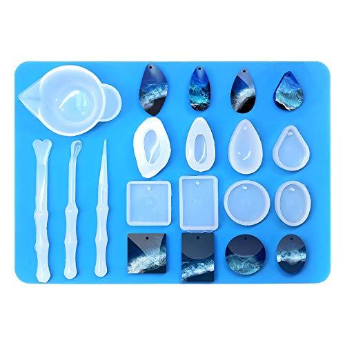 Amazon: Kit moldes de silicón para resina